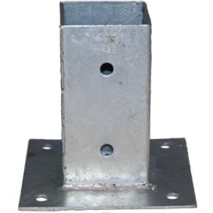 Plaatpaalhouder - 7 x 7 cm