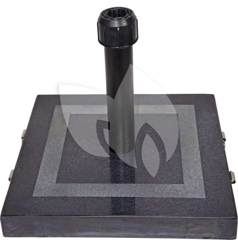 zwarte parasol vierkant