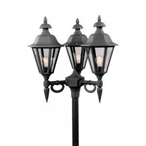 Staand verlichtingsarmatuur Pallas met 3 lampen - Matzwart