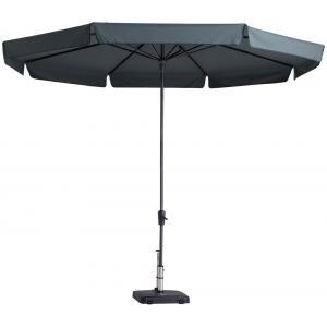 Madison parasol Syros rond 350 cm grijs