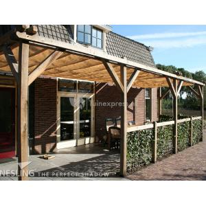 Complete Nesling pergola Wall 2 sand - 370 x 370 cm