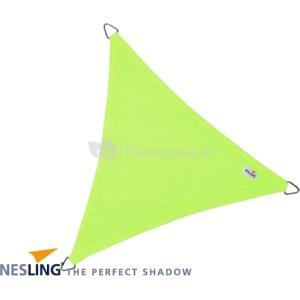 Coolfit schaduwdoek driehoek lime groen - 5.0 x 5.0 x 5.0 meter