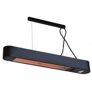 Ellips 1500 watt hangende terrasverwarmer - Zwart
