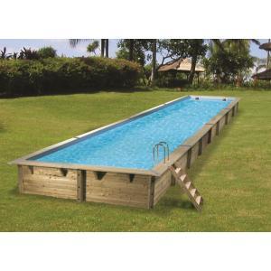 Zwembad Linea 350x1550 - Blauw