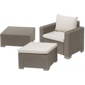 Moorea loungestoel cappuccino