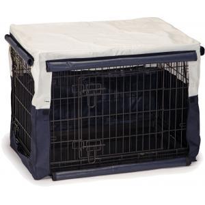 Hoes voor hondenbench benco beige/blauw 89 x 60 x 66 cm