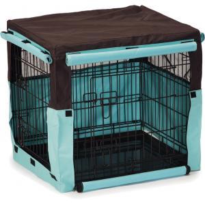 Hoes voor hondenbench bruin/mint 63 x 55 x 61 cm