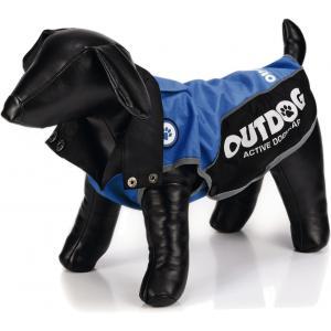 Honden regenjas Outdog blauw/zwart XL 47 cm