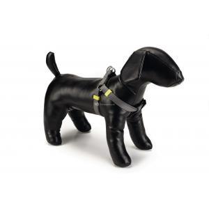 Hondentuig nylon 26-40cm donkergrijs