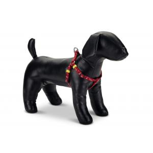 Hondentuig nylon Stars 60-100cm rood