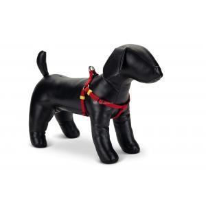 Hondentuig nylon Uni 35-60cm rood