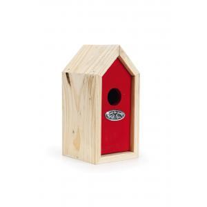 Houten nestkast voor winterkoning rood