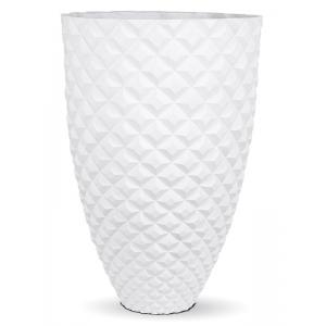Capi Lux Heraldry hoog wit 44x44x69cm bloempot