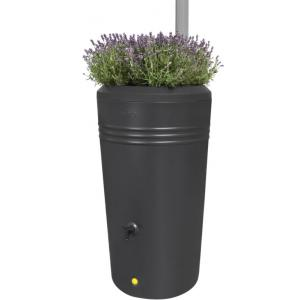 Elho Green Basics regenton 200L zwart met plantenbak