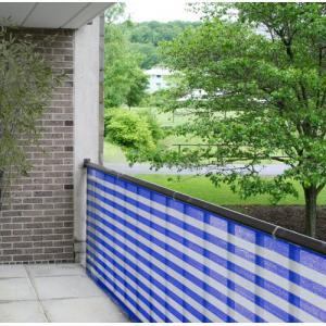 Balkondoek blauw en wit 0.9 x 5 meter