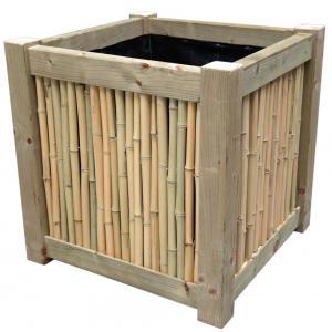 Bamboe bloembak 64 x 64 x 64 cm
