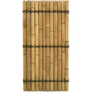 Bamboe schutting gehalveerd naturel 90 x 180 cm x 60-80 mm