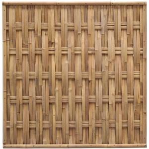 Bamboe schutting naturel gevlochten 180 x 180 cm – verticaal