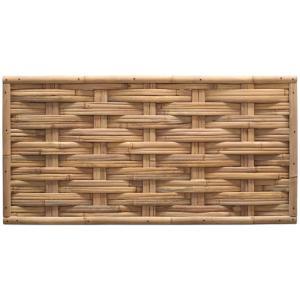 Bamboe schutting naturel gevlochten 180 x 90 cm – horizontaal