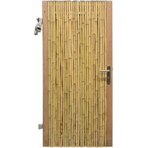 Bamboe schutting poortdeur naturel 90 x 180 cm x 18-28 mm