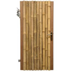 Bamboe schutting poortdeur naturel 90 x 180 cm x 60-80 mm