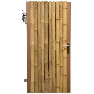 Bamboe schutting poortdeur naturel 90 x 200 cm x 60-80 mm