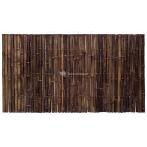 Bamboe schutting zwart 180 x 100 cm x 35-45 mm