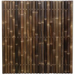 Bamboe schutting zwart 180 x 180 cm x 60-80 mm