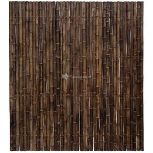 Bamboe schutting zwart 180 x 200 cm x 35-45 mm