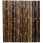 Bamboe schutting zwart 180 x 200 cm x 60-80 mm