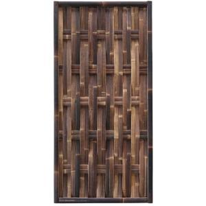 Bamboe schutting zwart gevlochten 90 x 180 cm – verticaal
