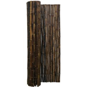 Bamboemat zwart 180 x 180 cm x 18-22 mm