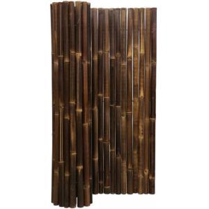 Bamboemat zwart 180 x 180 cm x 50-60 mm