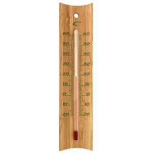 Buitenthermometer bamboe 20 cm