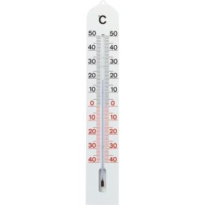 Buitenthermometer kunststof wit 41 cm