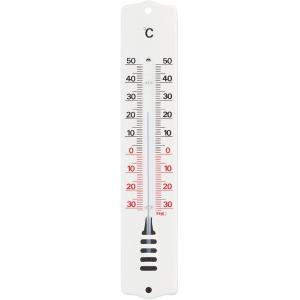 Buitenthermometer metaal wit 20.4 cm