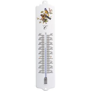 Buitenthermometer metaal vogelmotief 32.6 cm