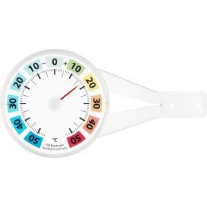 Venster buitenthermometer kunststof rond gekleurd 14.4 cm