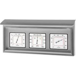 Weerstation 3 in 1 rvs wit 35.6 cm
