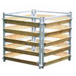 Compostbak hout/metaal 100 x 100 x 100