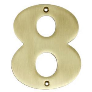 Huisnummers brons - 6
