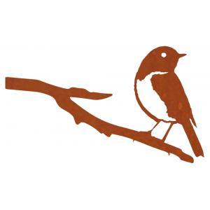 Metalen vogel blauwstaart cortenstaal