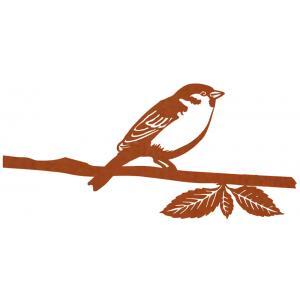 Metalen vogel huismus cortenstaal