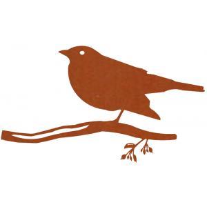 Metalen vogel merel cortenstaal