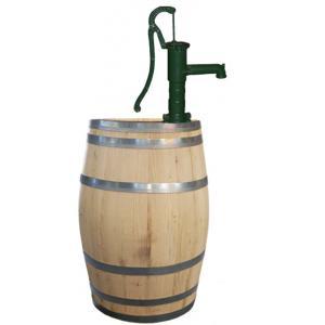 Kastanje regenton 225 liter met handpomp