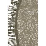 Tafelkleed rond 160cm grijs met motief