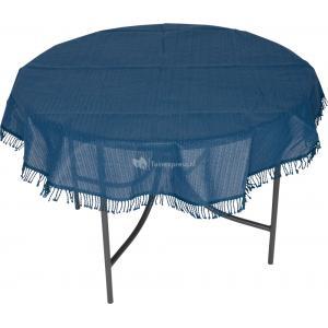 Tafelkleed rond 130cm blauw