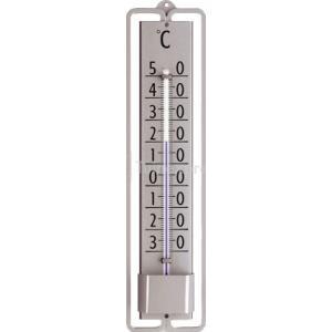 Muurthermometer zilver metaal