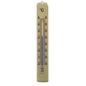 Thermometer kunststof bruin