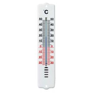 Thermometer kunststof wit